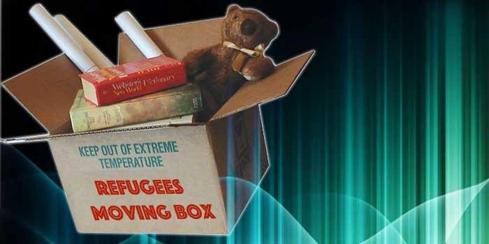 refugees moving box