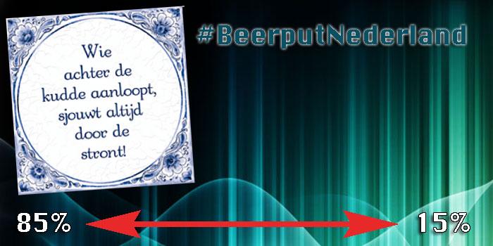 #BeerputNederland gelukkig is 15% wakker