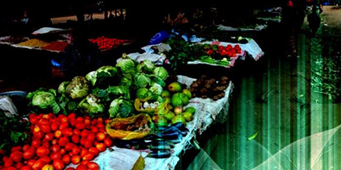 lokale groentenmarkt