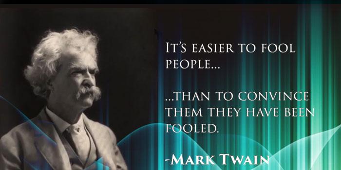 het is makkelijker om mensen een leugen voor te houden
