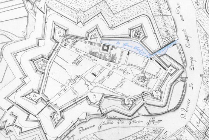 Geertruidenberg kaart met oude haven