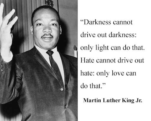 martin luther king darkness