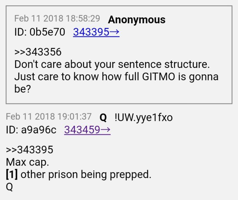 Q Anon Gitmo