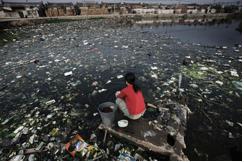 het vervuilde Chinees milieu