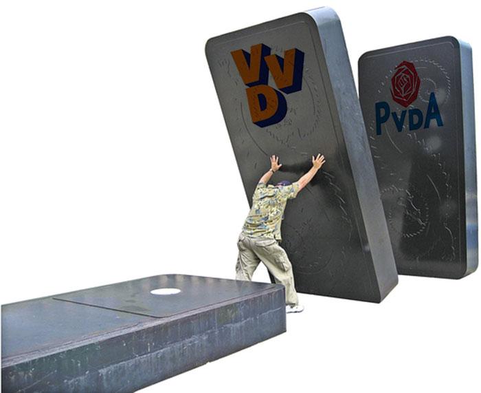 kan de VVD de dominostenen val tegenhouden