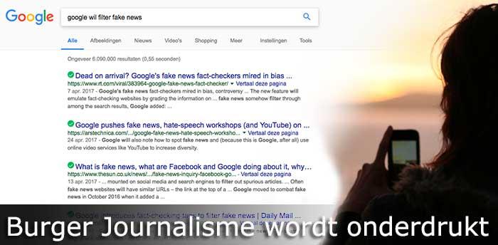 google fake news filter