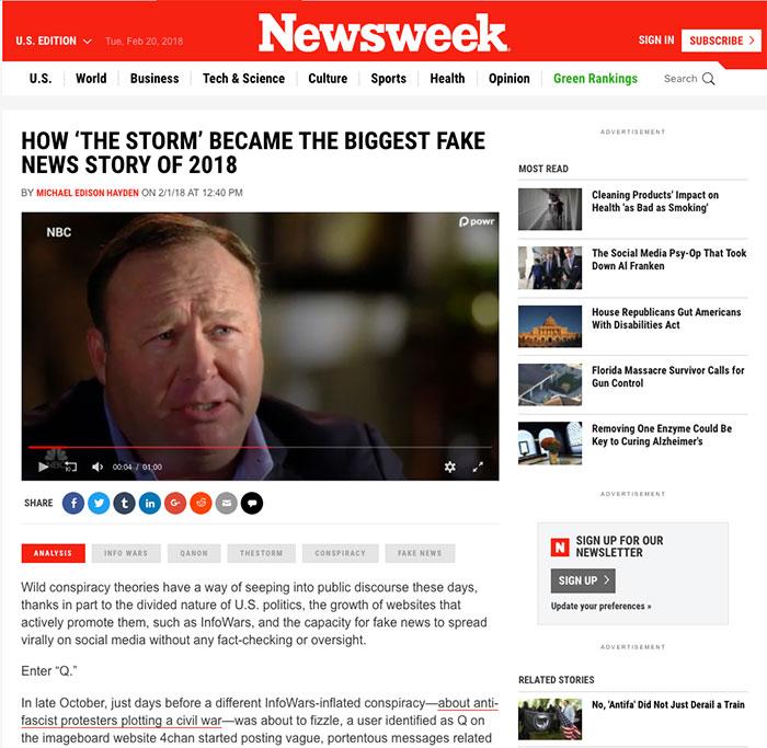 newsweek Q anaon