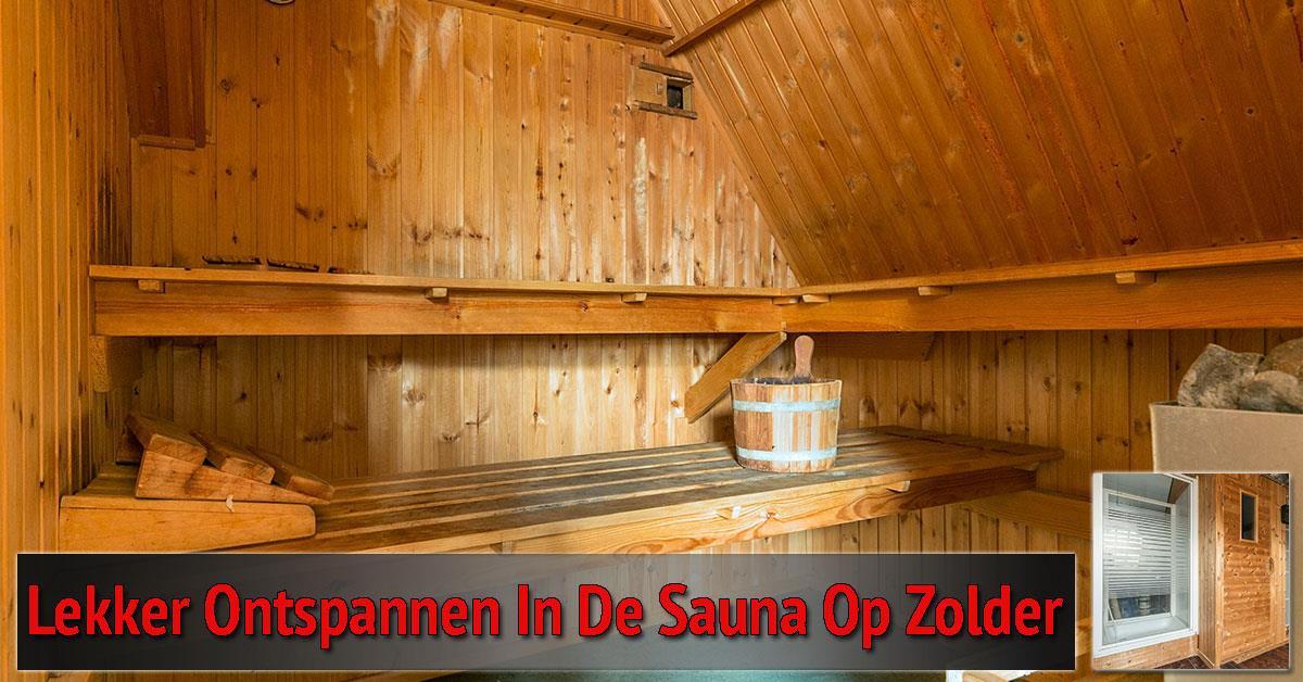 de sauna op zolder