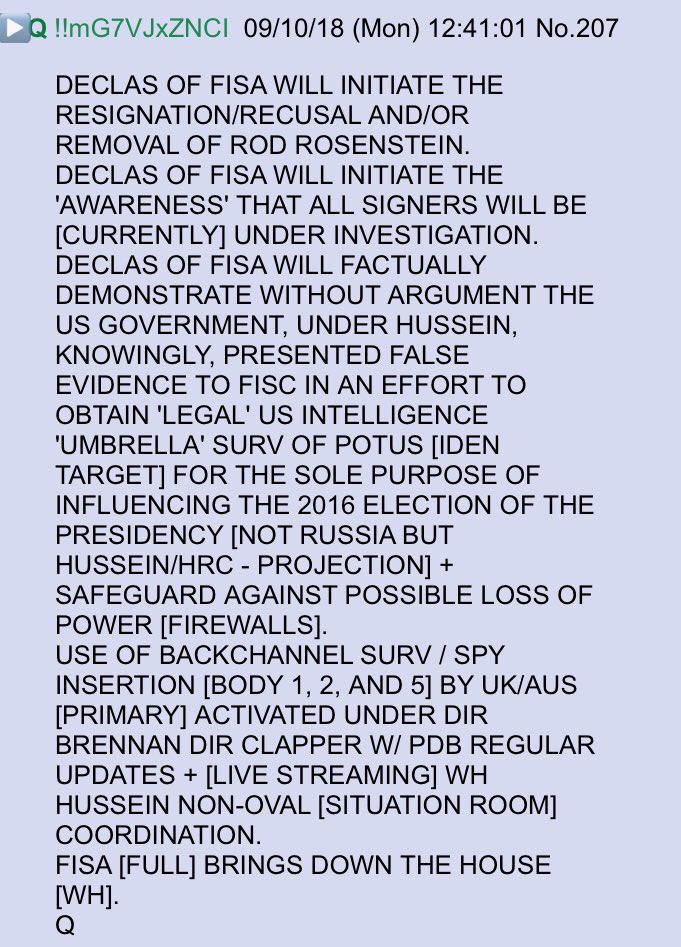 FISA Q declassification