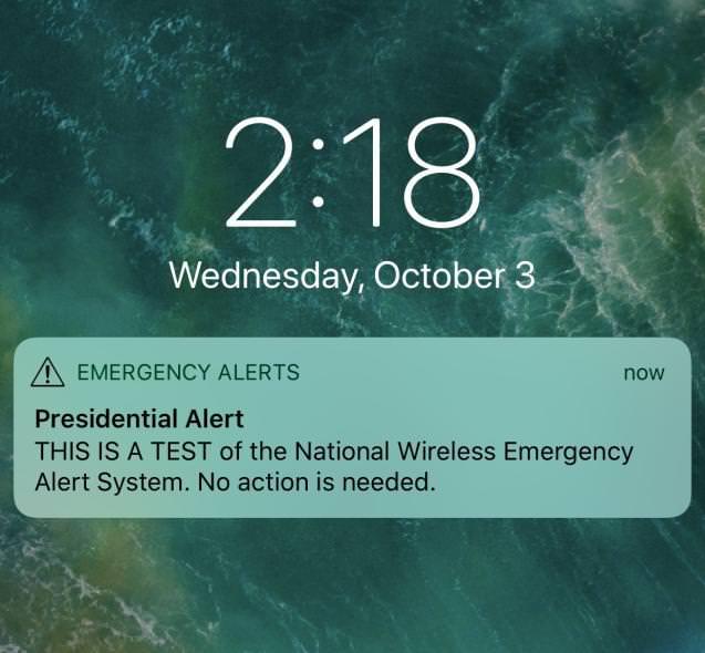 emergency alerts Trump