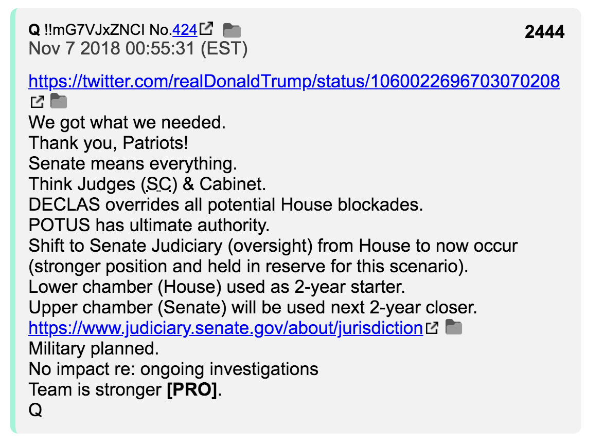 Q post 2444 midterm elections