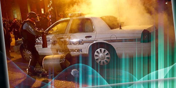 politie ontspoort in Ferguson