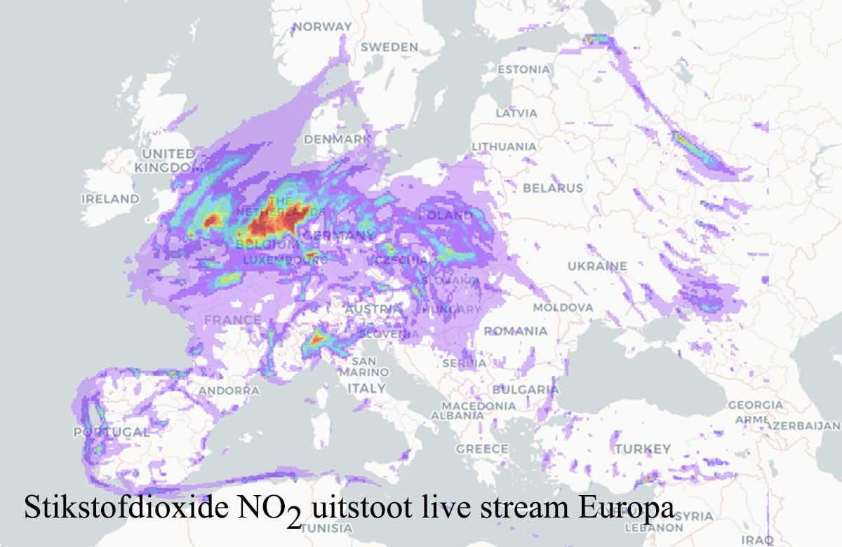 stikstofdioxide uitstoot Europa
