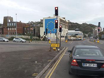 de EU vlag in Dover