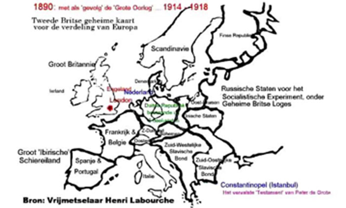 kaart Europa 1914 1918
