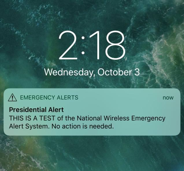 emergency alerts Trump