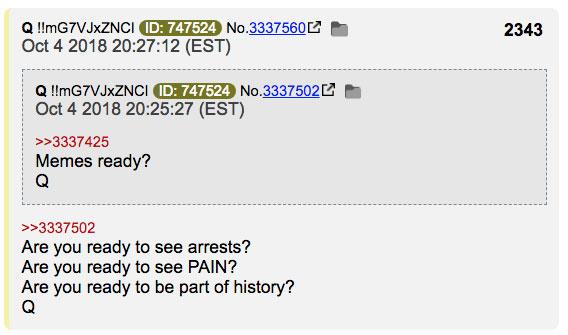 arrests pain Q anon