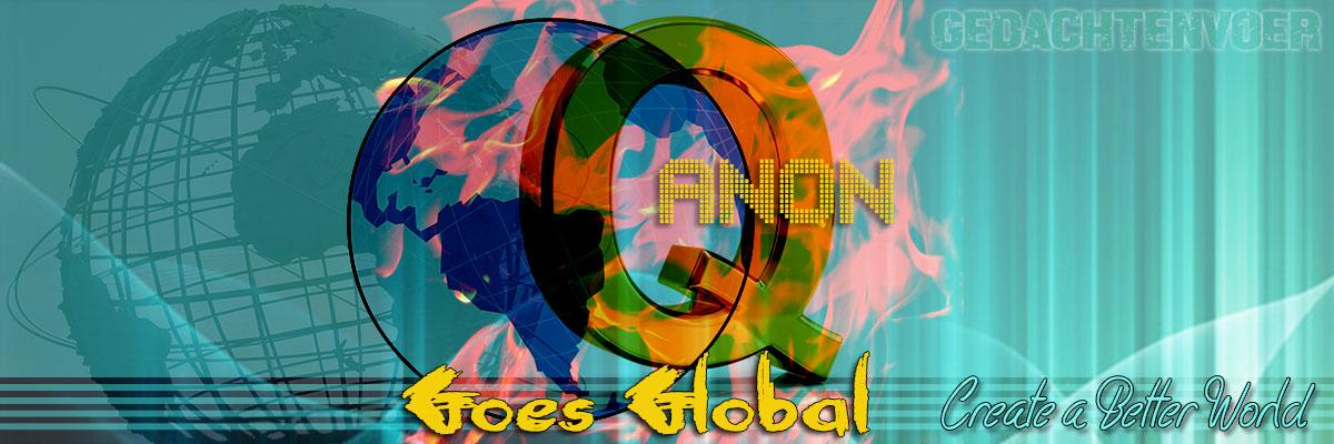 Q anon gaat wereldwijd