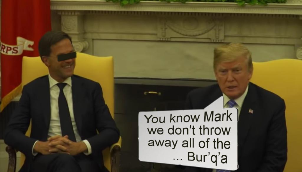 Mark Rutte en Donald Trump