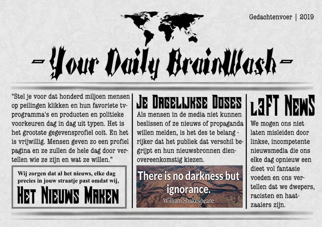 voorpagina van de brainwash krant