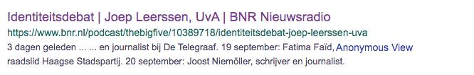 BNR indentiteitsdebat Joost Niemoller
