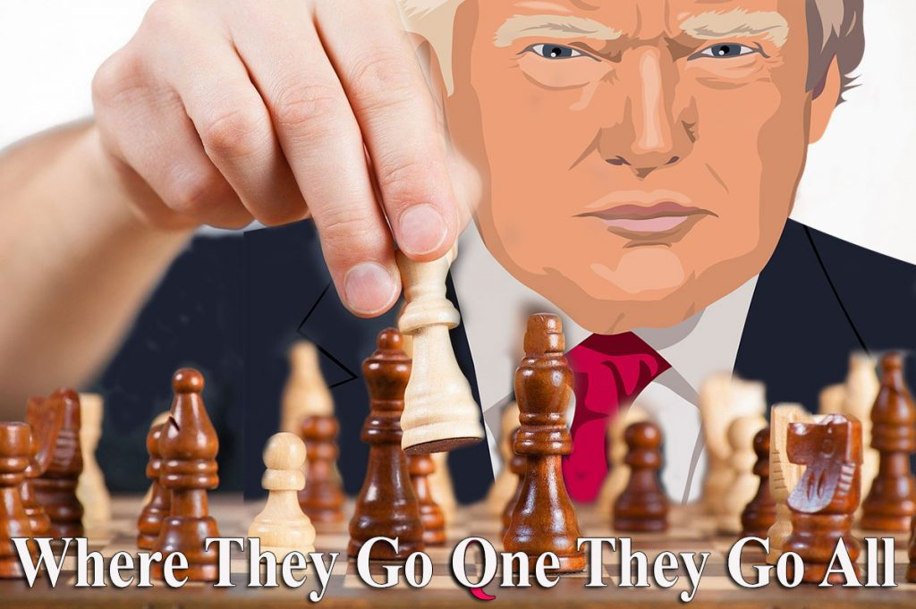 Trump speelt chess
