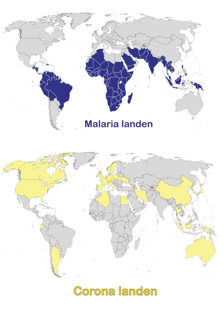 Malaria -vs- Corona COVID 19