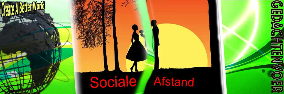 sociaal afstand houden, social distance,